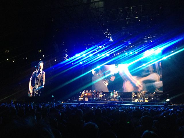 Bruce Springsteen's Blinded By the Light sung by 10 year old on stage with Bruce